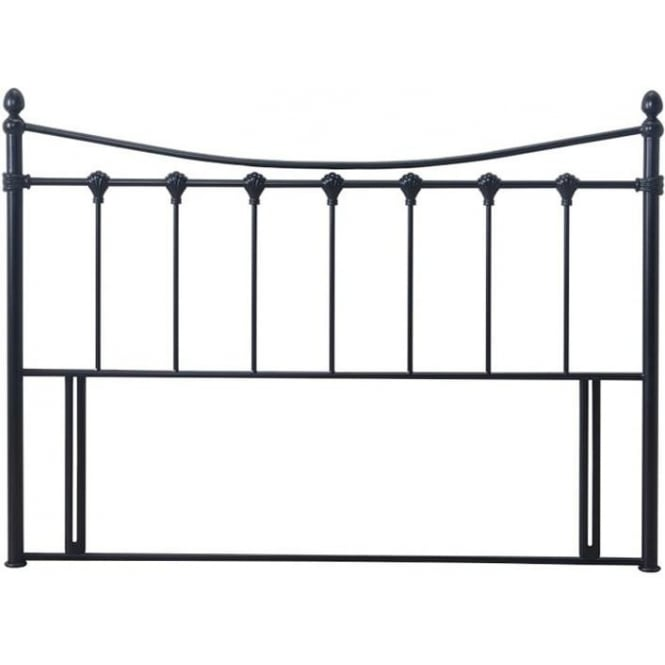 Time Living Florida Divan Headboard 5ft King Size Black Metal