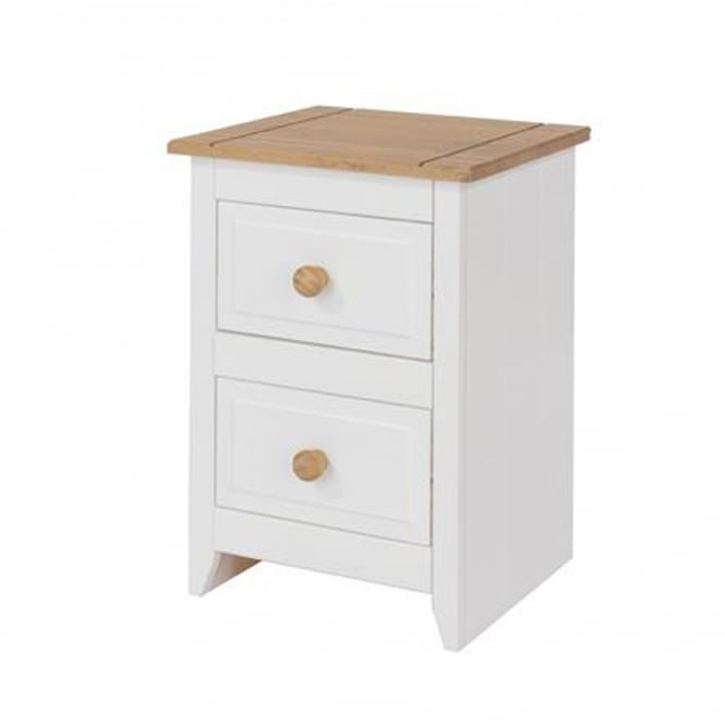 Core Products Ltd CP309 Capri 2 Drawer Petite Bedside Cabinet