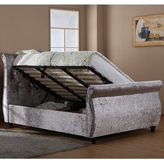Cheapest Harmony Beds Mayfair 5ft King Size Silver Crushed Velvet