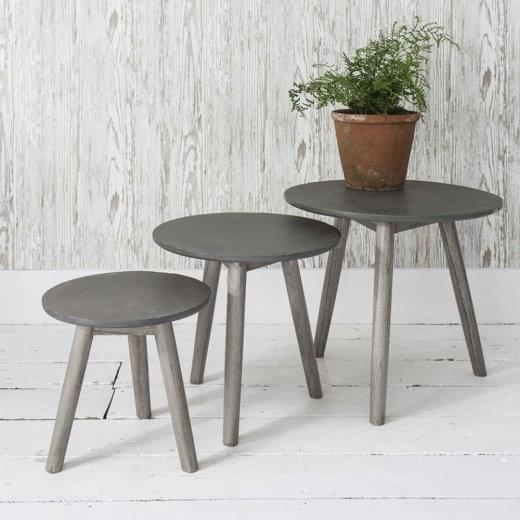 Hudson Living Bergen Nest of Tables Grey