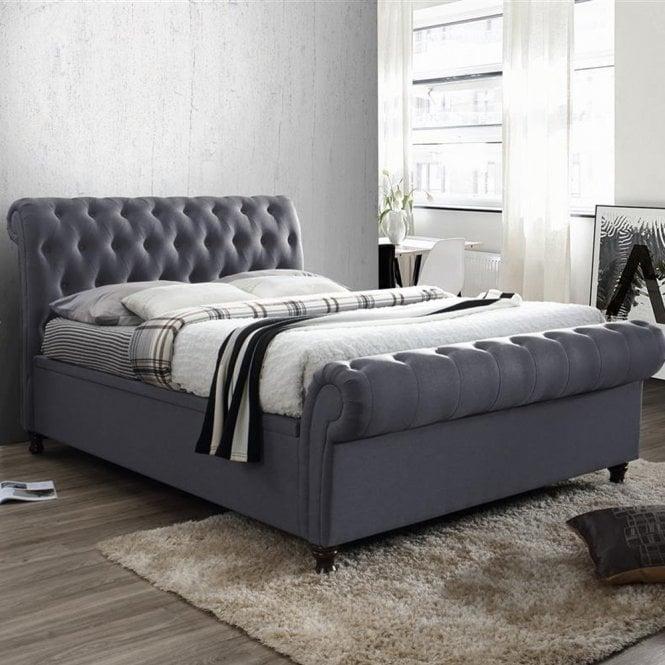 Strange Buy Birlea Beds Casso46Cha Castello 4Ft6 Double Charcoal Creativecarmelina Interior Chair Design Creativecarmelinacom