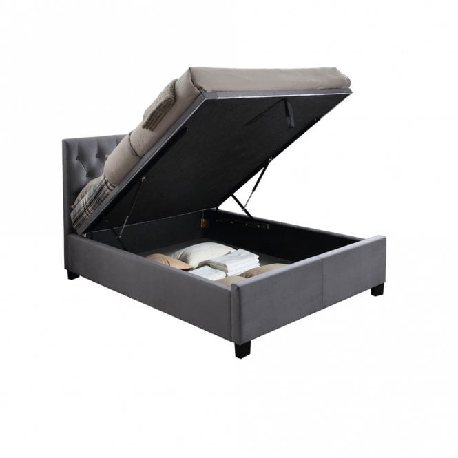Phenomenal Sale Birlea Beds Cologne 4Ft6 Double Grey Ottoman Bed Cogot46Gry Gmtry Best Dining Table And Chair Ideas Images Gmtryco