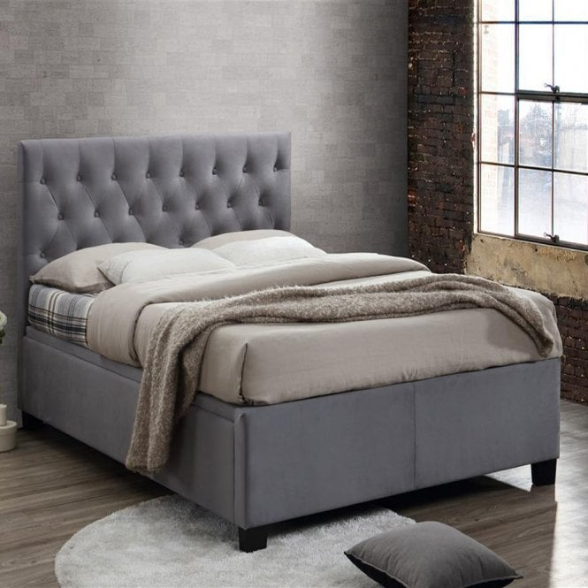 Cheapest Birlea Beds Cologne 5ft King Size Grey Ottoman Storage Bed