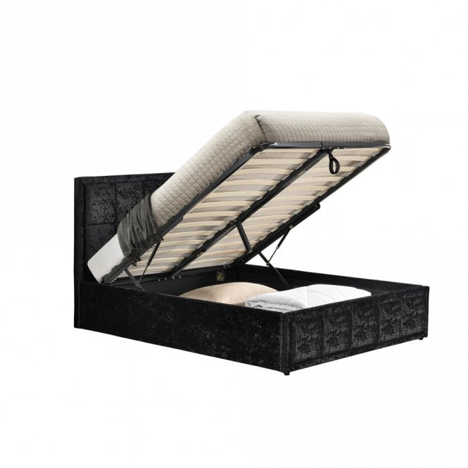 Fine Shop Birlea Beds Hannover 4Ft Small Double Black Crushed Alphanode Cool Chair Designs And Ideas Alphanodeonline