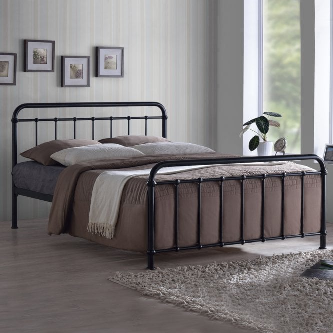 Time Living MIA46BLK Miami 4ft6 Double Black Metal Bed