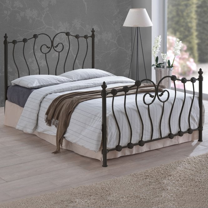 Time Living INO46BLK Inova 4ft6 Double Black Metal Bed