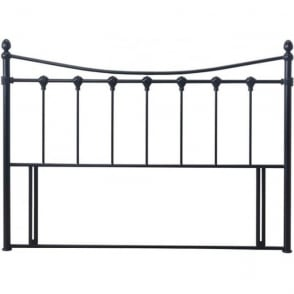 Florida Divan Headboard 5ft King Size Black Metal