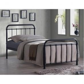 MIA3BLK Miami 3ft Single Black Metal Bed