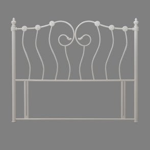 Inova 5ft King Size Ivory Metal Headboard