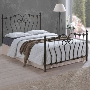 INO3BLK Inova 3ft Single Black Metal Bed