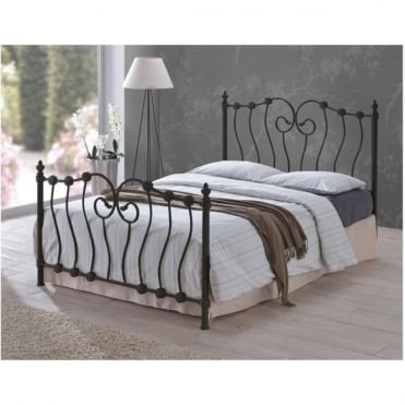INO4BLK Inova 4ft Small Double Black Metal Bed