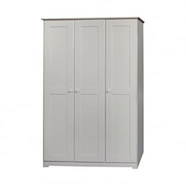 BN583 Banff Three Door Warm White Wooden Wardrobe