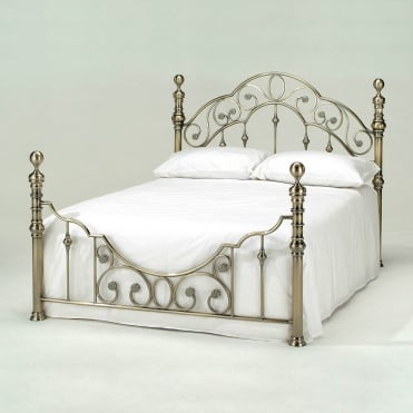 Florence 4ft6 Double Brass Metal Bed