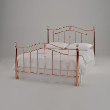 Eleanor 5ft King Size Rose Gold Metal Bed