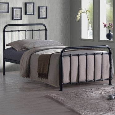 MIA3BLK Miami 3ft Single Black Metal Bed