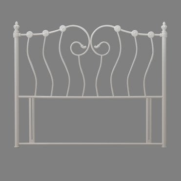 Inova 4ft6 Double Ivory Metal Headboard