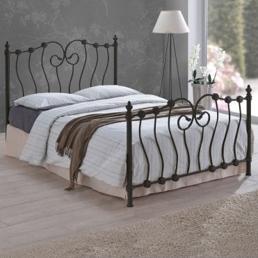 INO5BLK Inova 5ft King Size Black Metal Bed